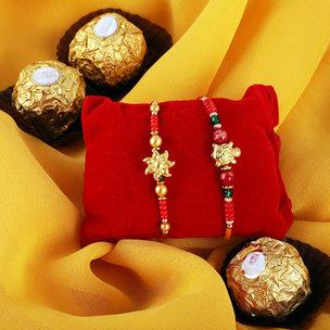 Golden Beaded Rakhis