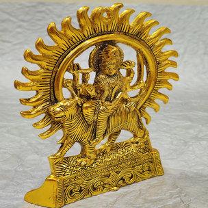 Golden Brass Sherawali Mata Idol