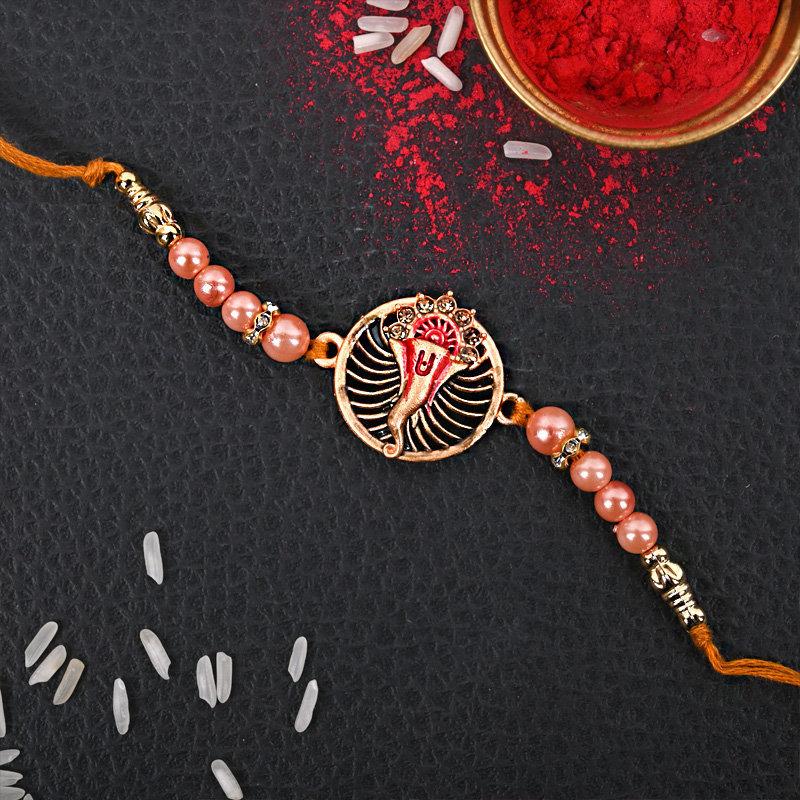 Golden Ganesha Rakhi - One Designer Rakhi