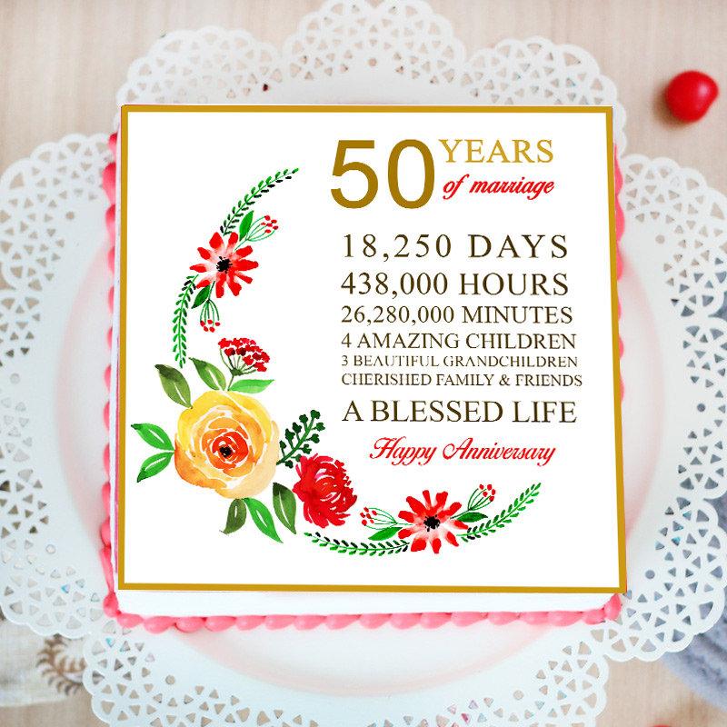 50th Anniversary Poster Cake