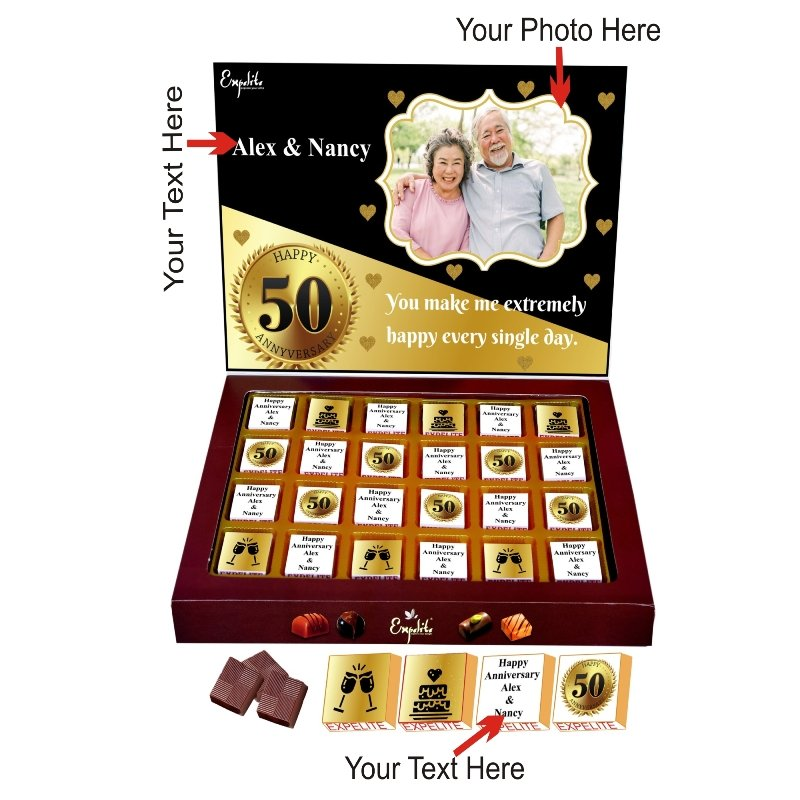 Golden Jubilee Personalised Choco Box