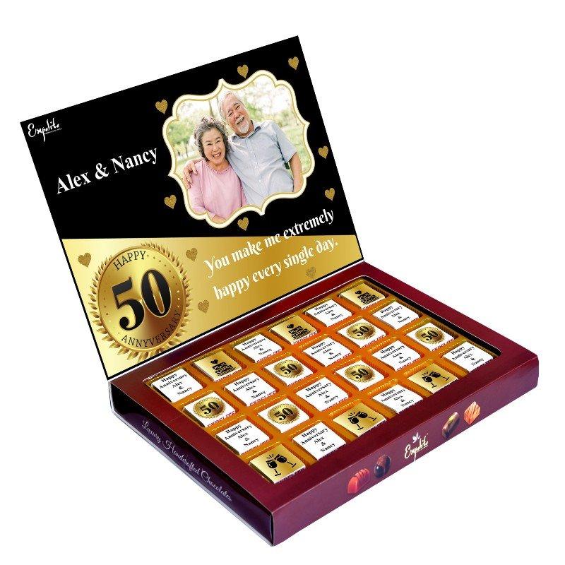25 pieces of Premium Personalised Anniversary chocolates