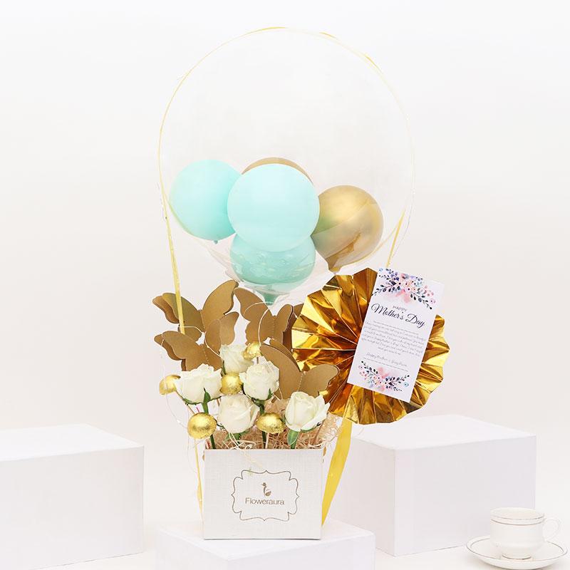 Golden Mothers Day Balloon Box