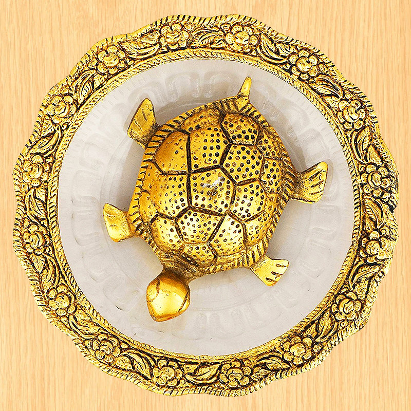 Golden Tortoise - Material - Metal and Glass