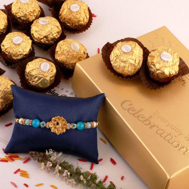 Goldy Gold Rakhi Combo