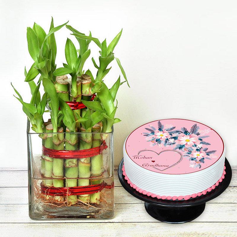 Good Luck Love Cake Combo