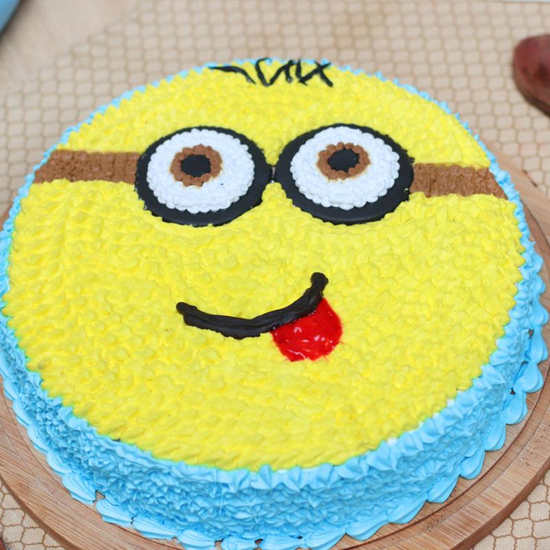 Zoom view of Minion Cartoon Birthday Cake