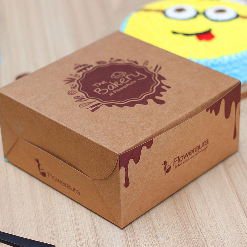 Minion Cartoon Cake in a Box