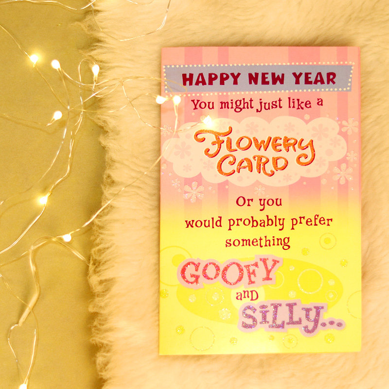 Goofy Or Silly New Year Card