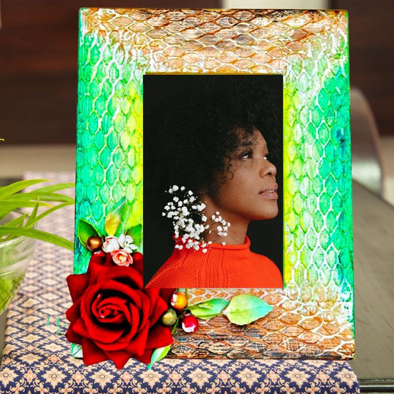 Rose Wooden Photo Frame