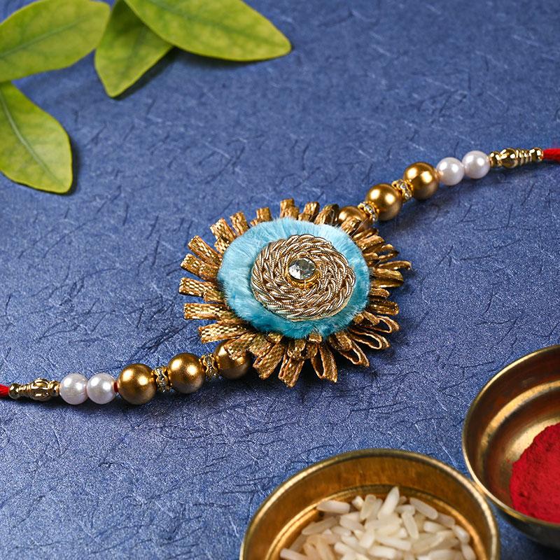 Gotta Patti Rakhi - Ethnic, Pearl Rakhi, Diamond rakhi