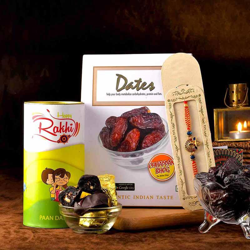 Gratifying Choco Dates N Rakhi Combo