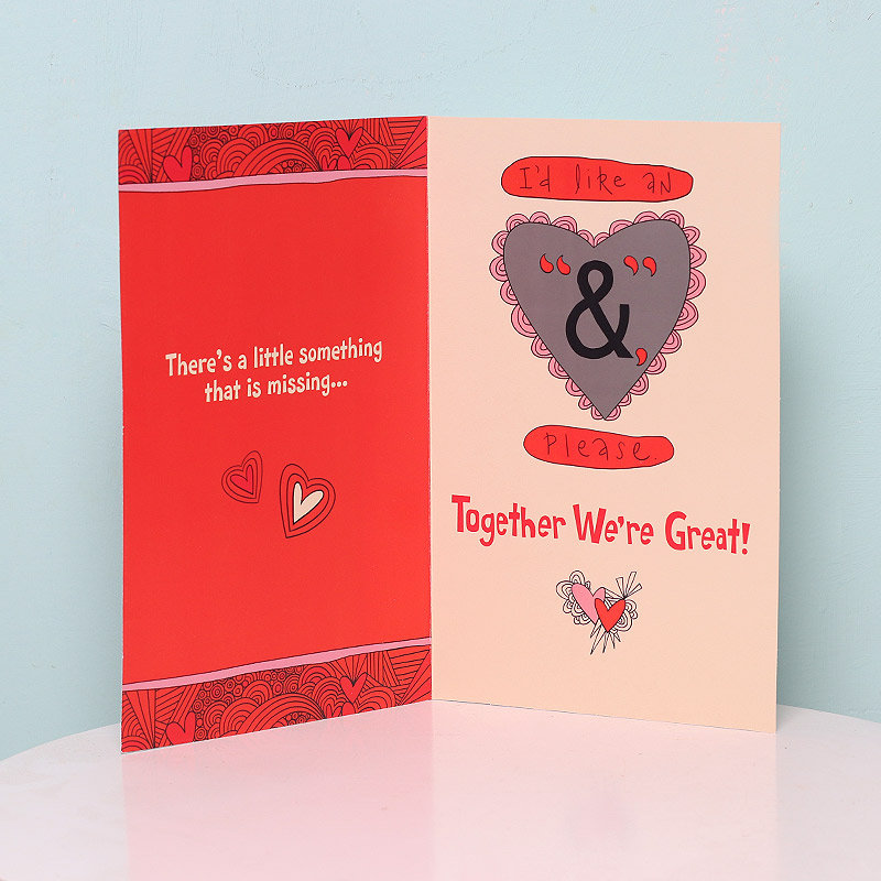 You and Me Card in Opened View