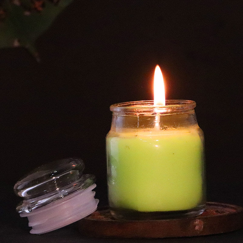 Green Apple Jar Candle for her - A Beautiful Birthday Gift for Girl