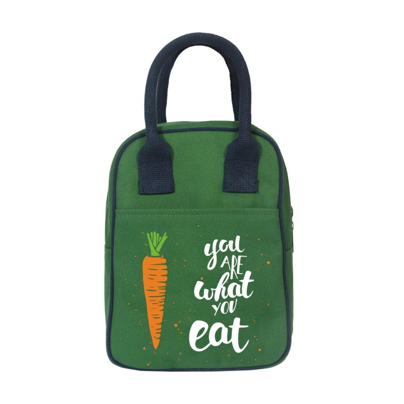 Green Lunch Bag: You Are What You Eat Lunch Bag
