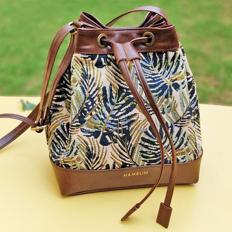 Green Maple Bucket Bag