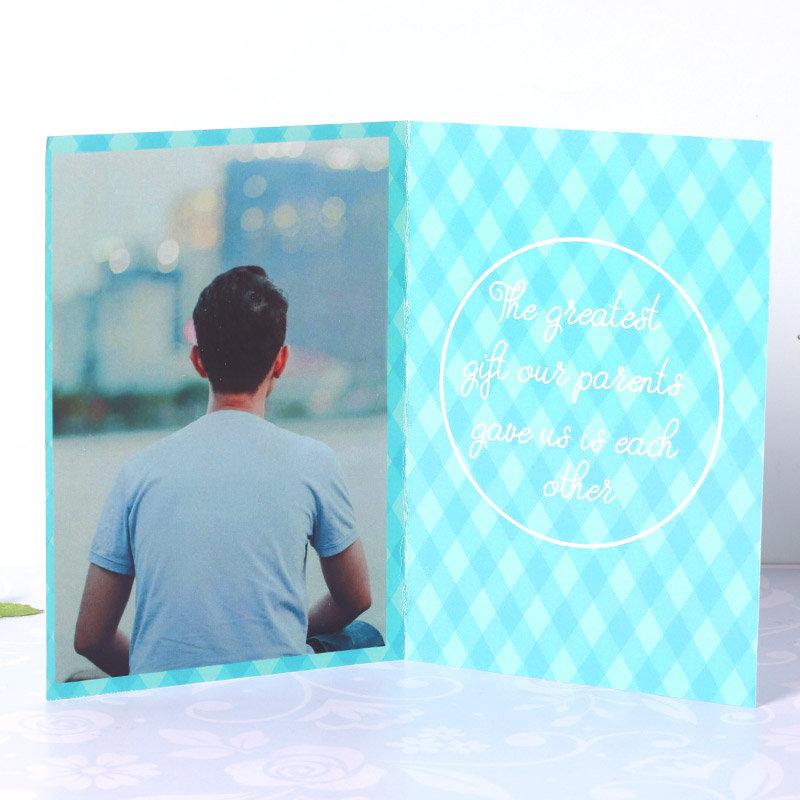 Rakhi Card in Greeting Card Rakhi Combo