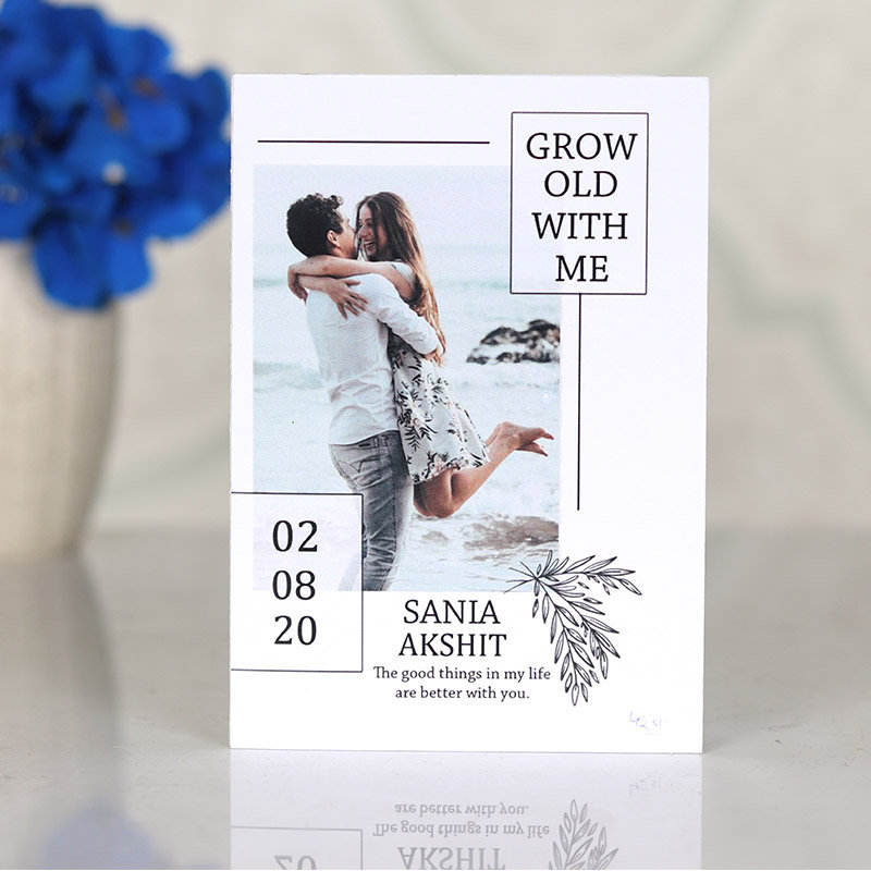 Grow Old With Me Personalised Anniversary Card
