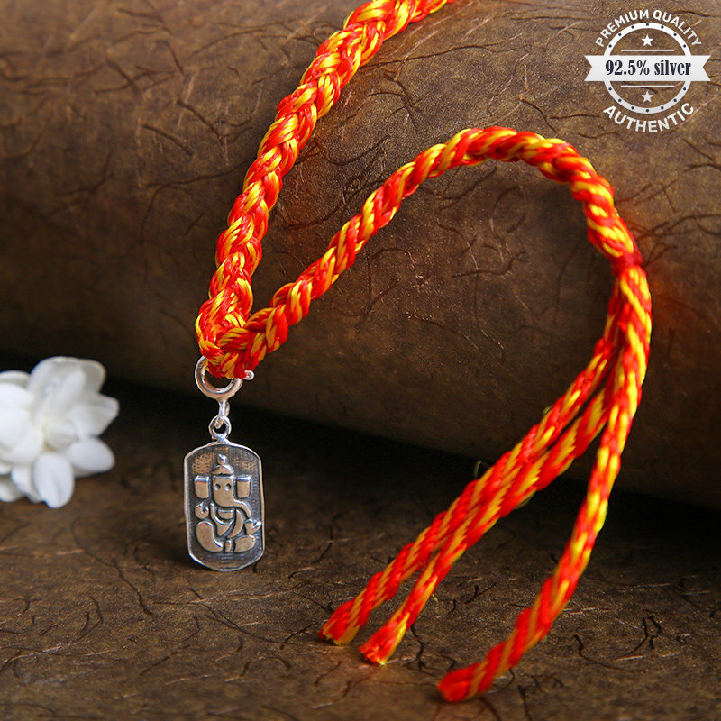 Order Silver Designer Rakhi Online Online