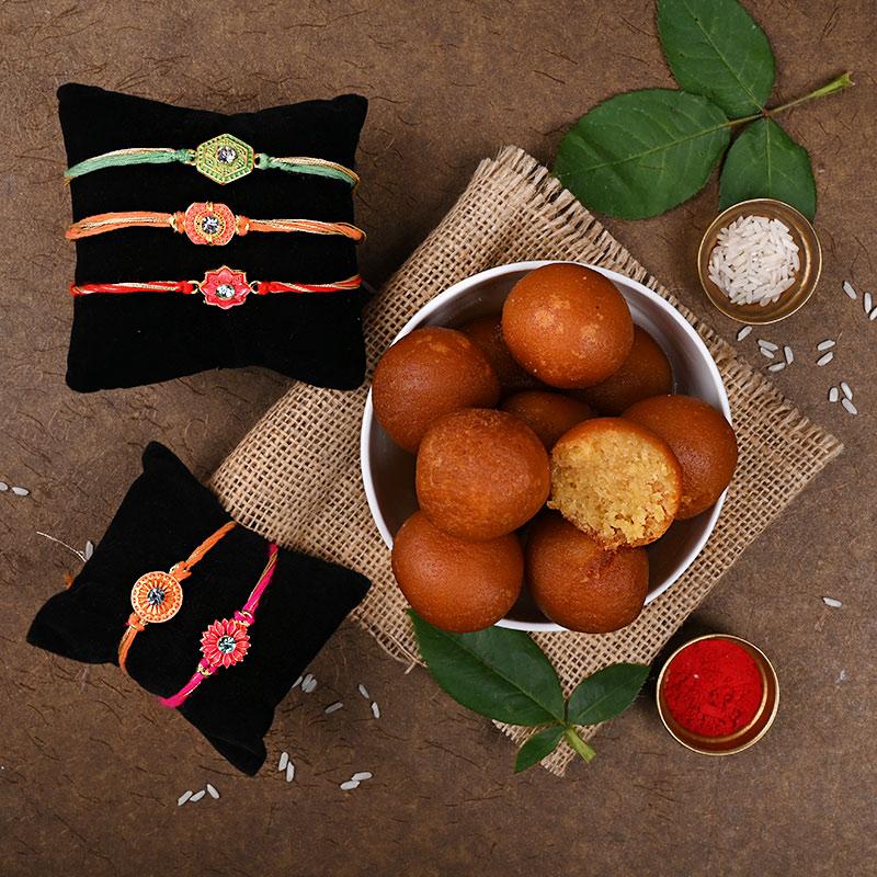 Gulab jamun rakhi pack