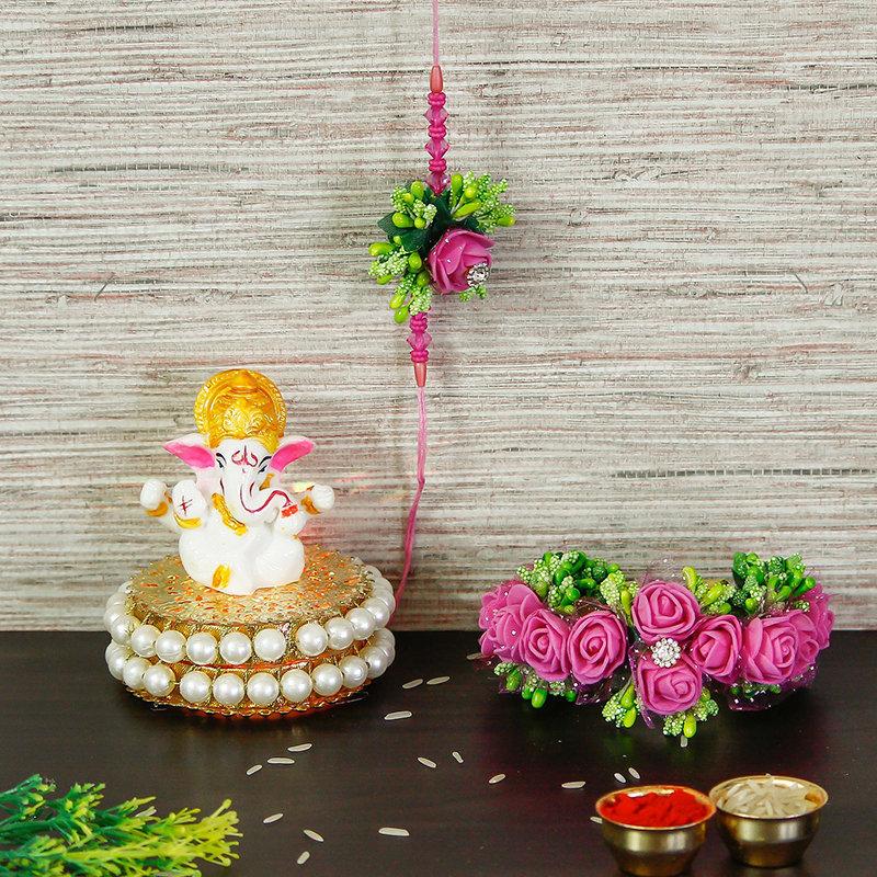 Handcrafted Divine Rakhi Combo