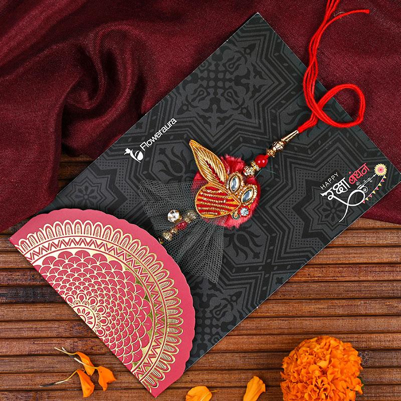 First Product of Zardosi Rakhi - Handmade Rakhi N Peda