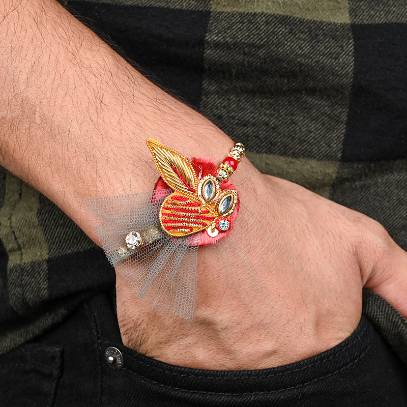 Give Rakhi With Sweets For Brother