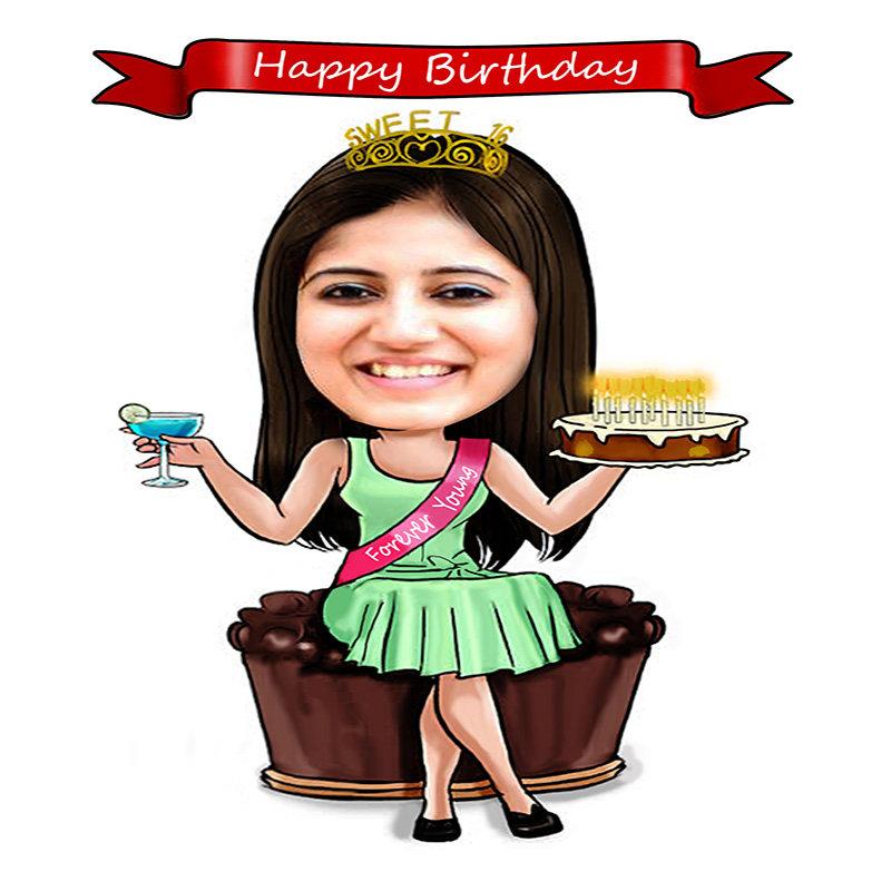 Happy Birthday Caricature