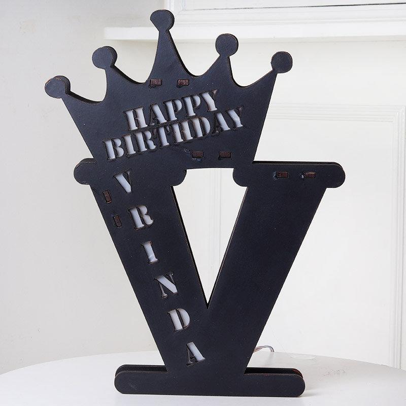 Happy Birthday Personalised Crown