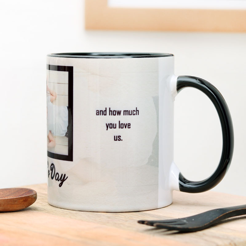 Happy Fathers Day Personalised Mug-Side View