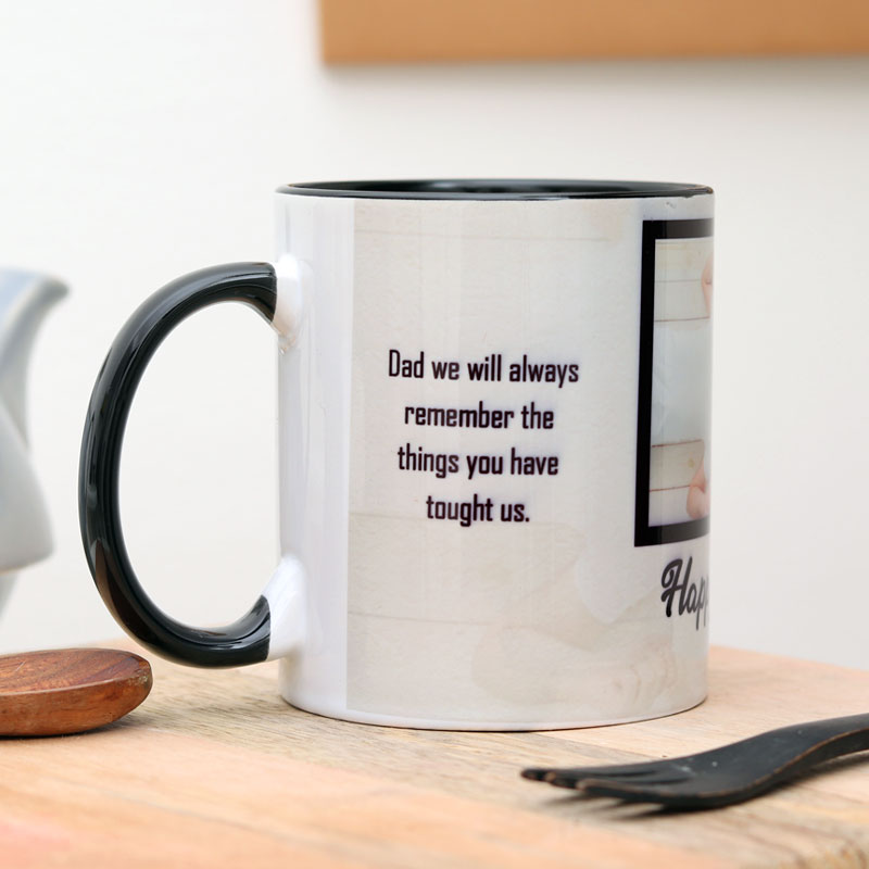 Fathers Day Customised Mug-Side View