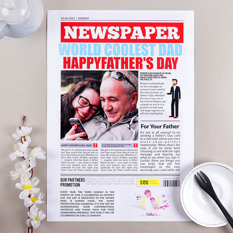 Happy Fathers Day Newspaper
