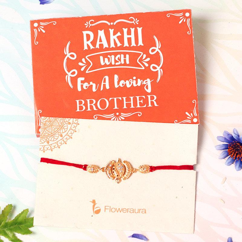 Rakhi Card in Rakhi with Mug and Cushion