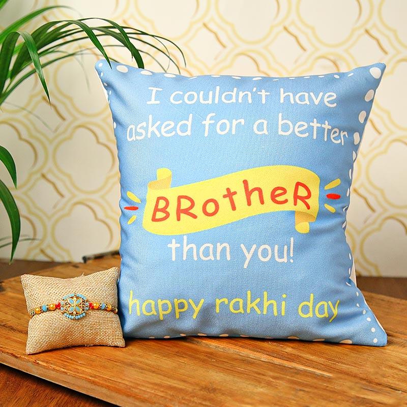 Happy Rakhi Cushion Combo