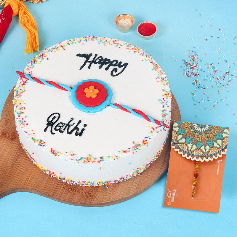 Rakhi with Cake for Brother