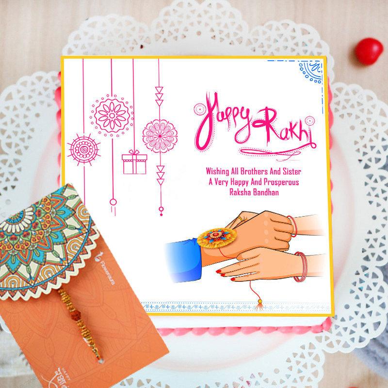 Poster Cake for Raksha Bandhan