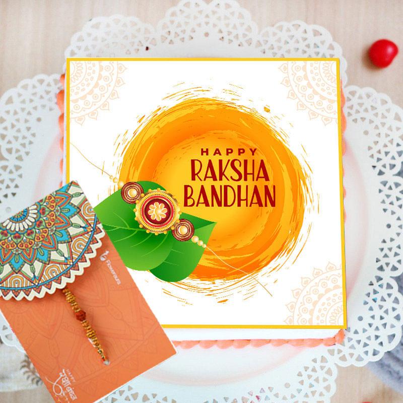 Happy Raksha Bandhan Poster Cake