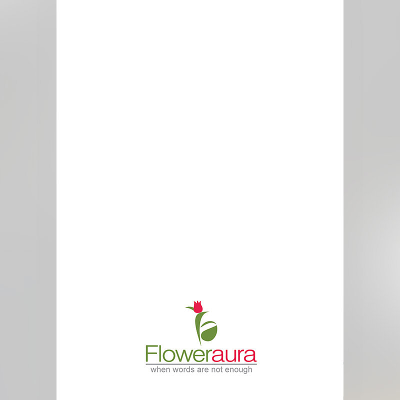 White Blank Note for Personalised Birthday E Greeting Card