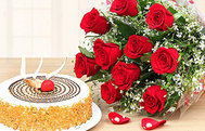 Women's Day Flower and Cake