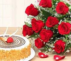 Valentine Flower and Cake