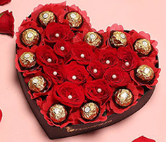 Valentine's Day Flower and Chocolates