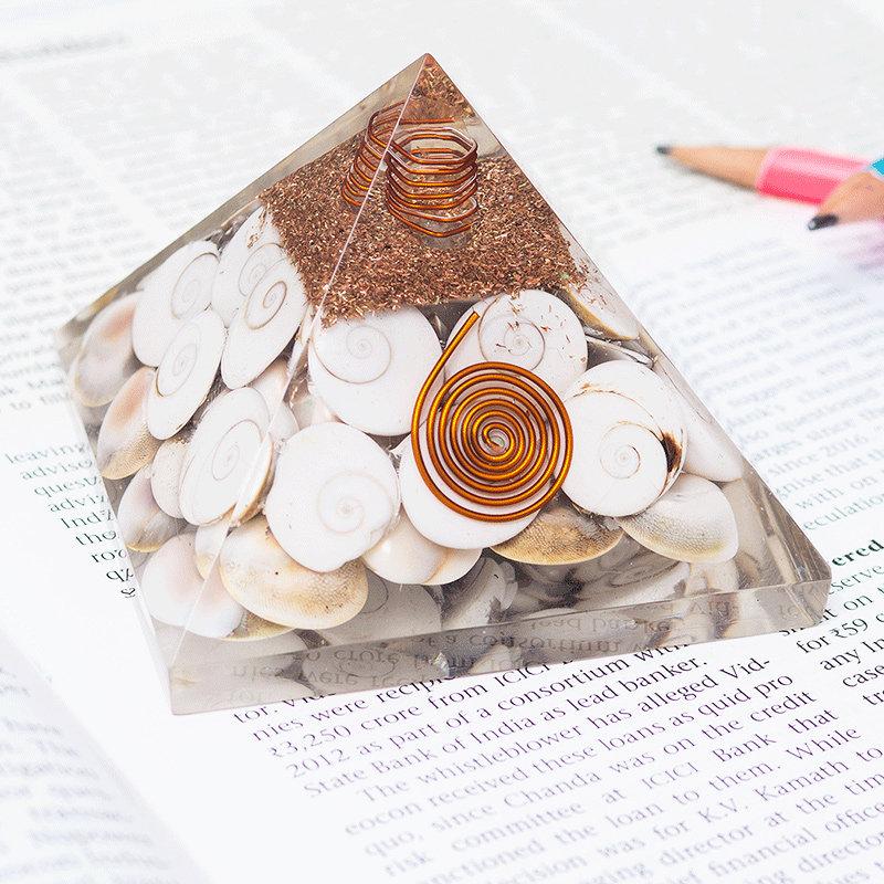 Healing Pyramid Prism - Pyramid Prism Home Decor FengShui Crystal