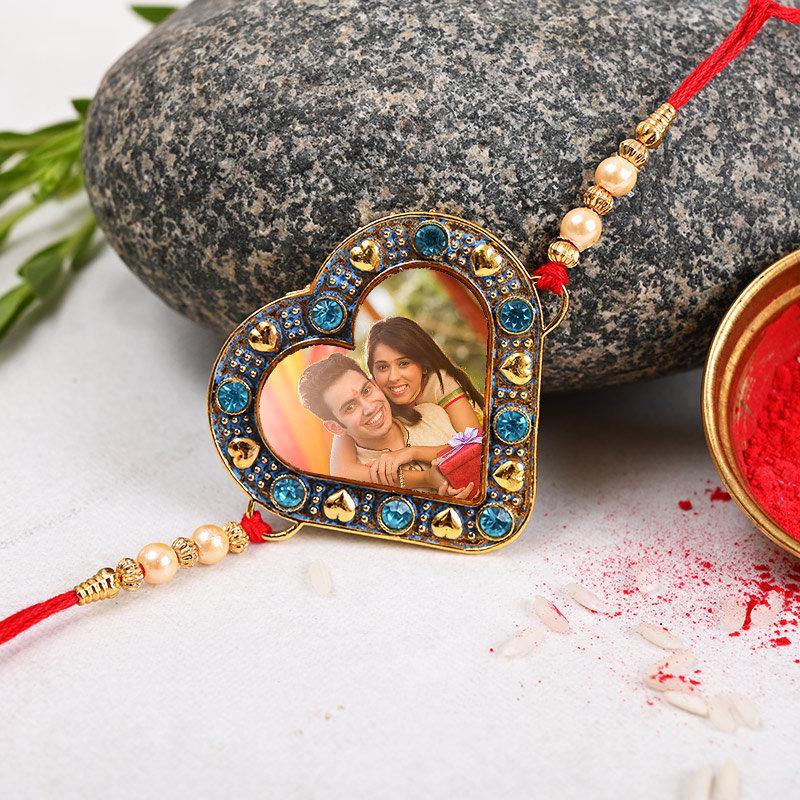Heart Shaped personalised Rakhi - One Personalised Rakhi