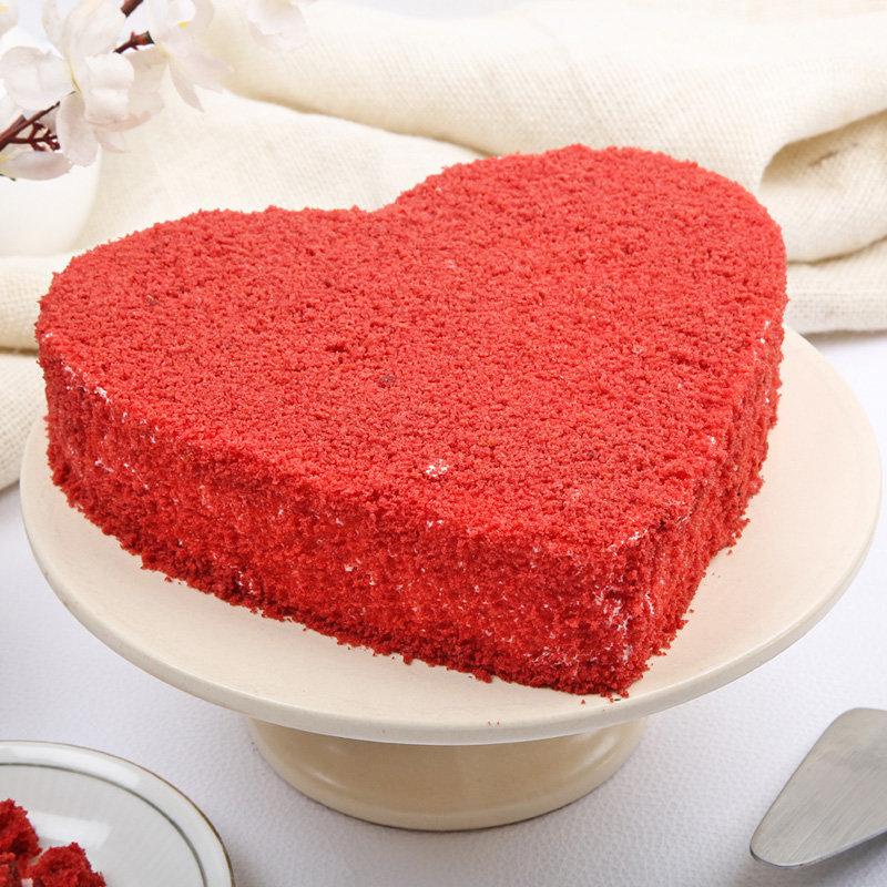 Order Online Heart Shaped Red Velvet Cake