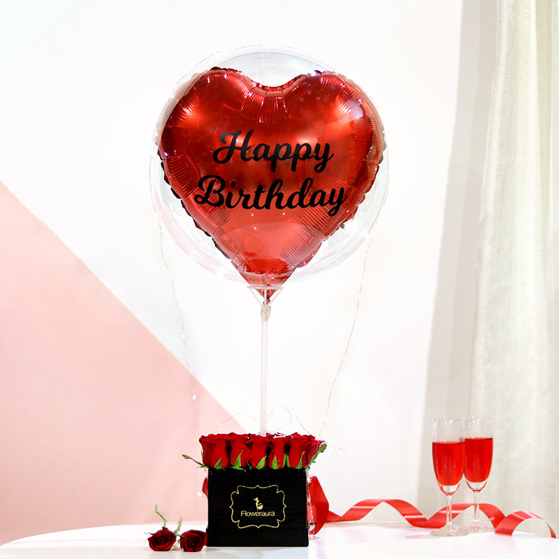 Heartiest Bday Balloon Wishes