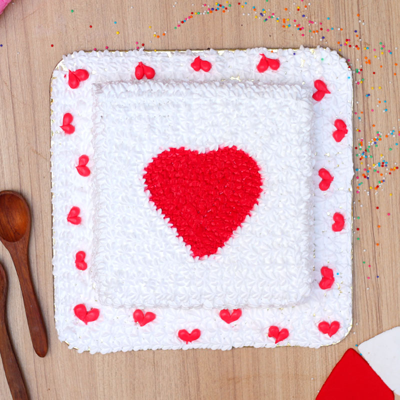 Hearty Emotions Cake for Lover