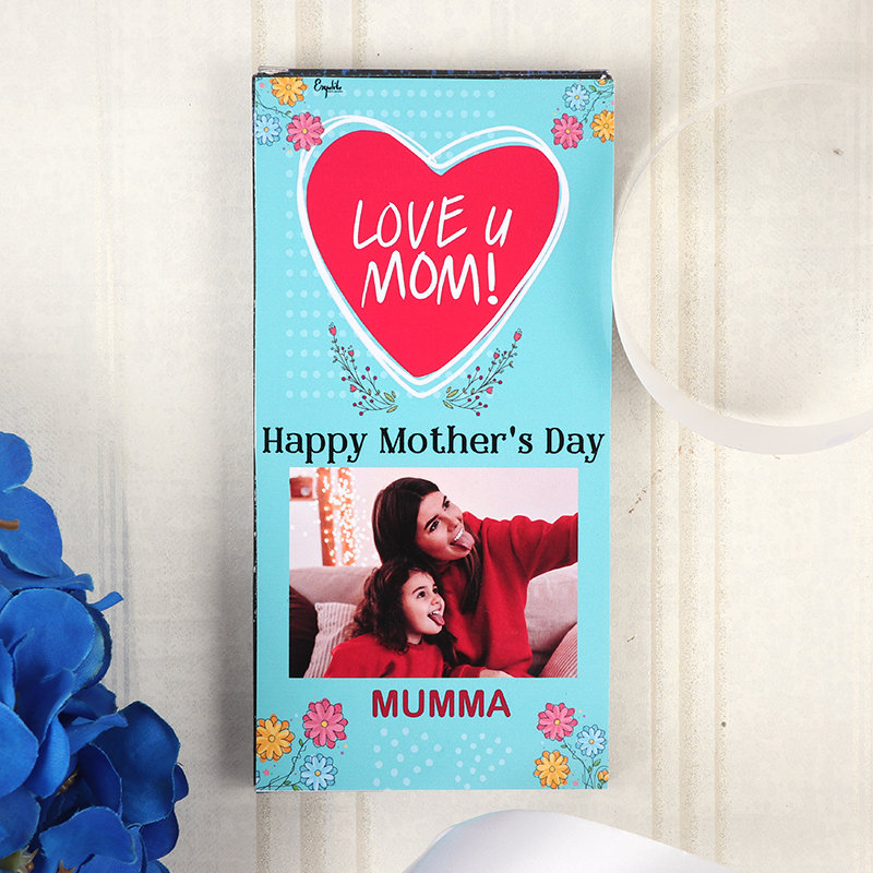 Hearty Happy Mothers Day Chocolate and Personalised Chocolate Bar