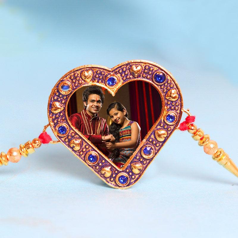 Hearty Photo Rakhi - Personalised Rakhi for Bro