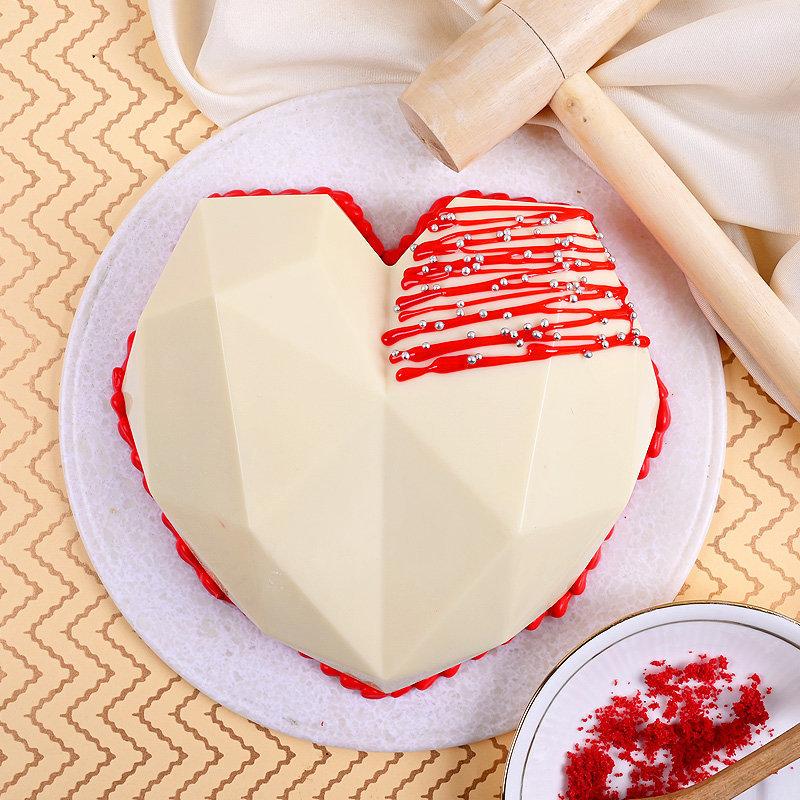 Hearty White Velvety Pinata Cake