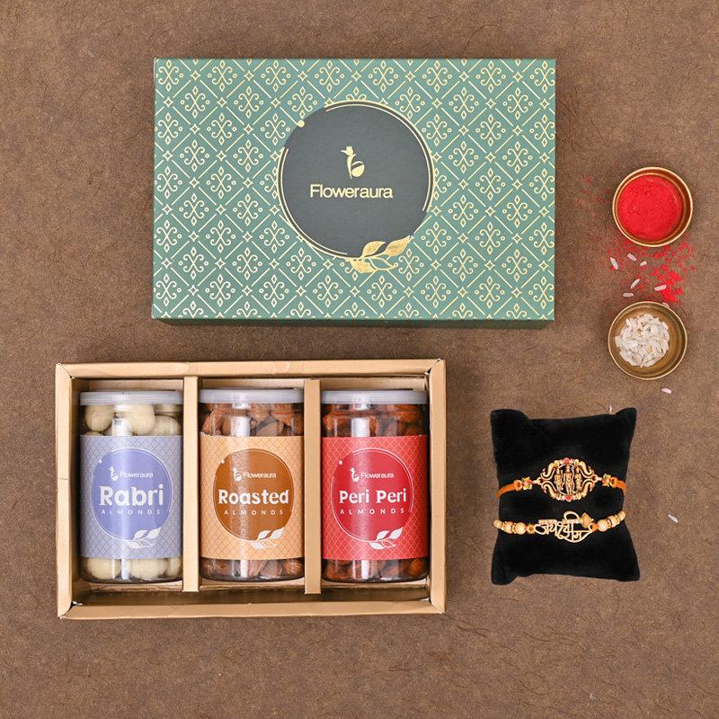 Set of 2 Designer Rakhi - Heavenly Rakhi Signature Box